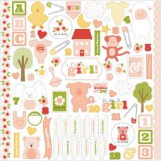 "Наклейки It's A Girl Cardstock Stickers 12""X12 от Carta Bella"