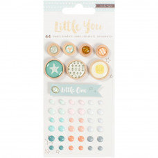 Набор украшений Crate Paper Little You Mixed Embellishments Boy, Crate Paper