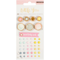 Набор украшений Crate Paper Little You Mixed Embellishments Girl,  Crate Paper