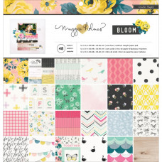 Набор бумаги Maggie Holmes Bloom,  Crate Paper 48 листов,30*30