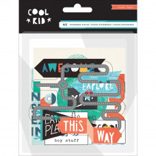 Высечки Cool Kid Ephemera Cardstock Die-Cuts от  Crate Paper