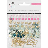Набор декоративных элементов Cute Girl Small Bow Embellishments от  Crate Paper