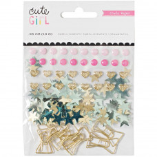 Набор декоративных элементов Cute Girl Small Bow Embellishments от  Crate Paper