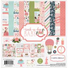 Набор бумаги Rock-A-Bye Baby Girl от Carta Bella