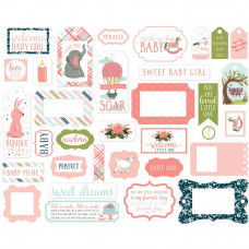 Набор высечек Rock-A-Bye Baby Girl Ephemera Cardstock Die-Cuts от Carta Bella