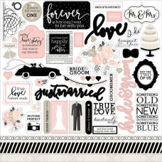 "Наклейки Wedding Bliss Cardstock Stickers 12""X12"""