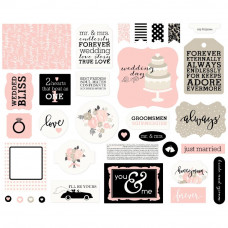 Высечки Wedding Bliss Ephemera Cardstock Die-Cuts