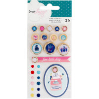 Дотсы и пуговицы Dear Lizzy Lovely Day Embellishment Pack от American Crafts