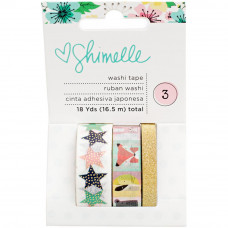 Набор бумажных скотчей Shimelle Little By Little Washi Tape от American Crafts