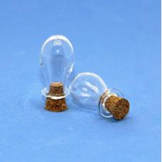 Стеклянные бутылочки с пробкой Рукоделие™ 1,5мл (15мм х 24мм)