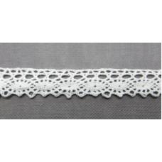 Кружевная лента «Рукоделие» 12мм цвет: белый