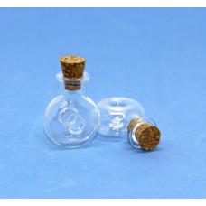 Стеклянные бутылочки с пробкой Рукоделие™ 1.5мл (19мм х 24мм)