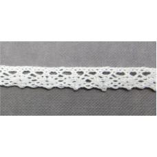 Кружевная лента «Рукоделие» 10мм  цвет: белый