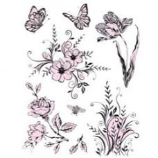 """Набор штампов """"Цветы и бабочки"""""""