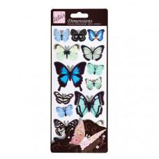"""Набор наклеек """"Синие бабочки"""""""