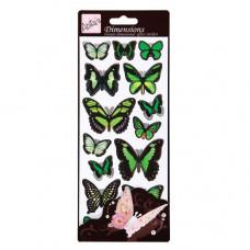 """Набор наклеек """"Зеленые бабочки"""""""
