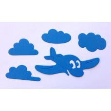 """Набор ножей для вырубки """"Аэроплан в облаках"""""""