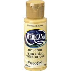 Акриловая краска Премиум Americana Желтая Охра