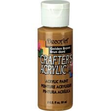 Акриловая краска Crafter's Коричнево-золотой