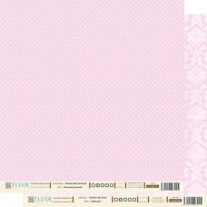 """Лист бумаги для скрапбукинга """"Нежный Розовый"""", коллекция """"Шебби Шик Базовая 2.0"""","""