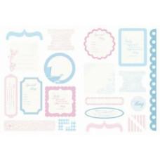 Набор вырубных элементов из картона для скрапбукинга, серия Lullaby