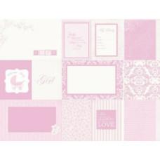 Бумага двусторонняя для скрапбукинга 30,5х30,5 см, WelcomeHome, серия: Lullaby