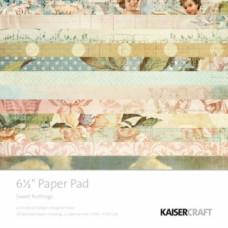 Набор бумаги для скрапбукинга Sweet Nothings, 15x15 см, 34 л.
