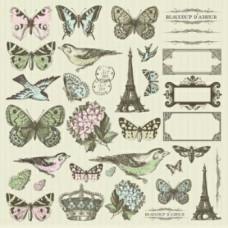 Набор бумажных самоклеющихся аппликаций серии Bonjour