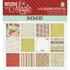 Набор бумаги 24 листа My Mind's Eye Mistletoe Magic