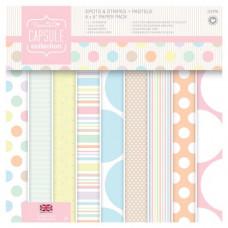 Набор бумаги односторонней Spots & Stripes Pastels