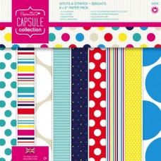 Набор бумаги Spots & Stripes Brights