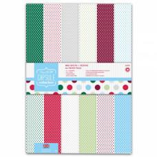 Набор бумаги для скрапбукинга Spots & Stripes Festive