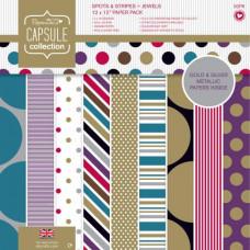 Набор бумаги Spots & Stripes Jewels