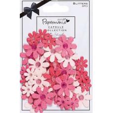 """Декоративные элементы """"Цветы с блестками"""" Parkstone Pink 50 шт."""