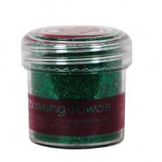 Пудра для тиснения, PAPERMANIA,   28,3г,зеленый с блестками .