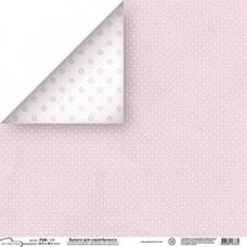 """Бумага  для скрапбукинга """"Точки. Розовый"""""""