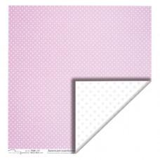 """Бумага  для скрапбукинга """"Точки. Фиолетовый"""""""