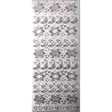 Контурные стикеры СОЛНЦЕ, ЛУНА И ЗВЕЗДЫ серебряные