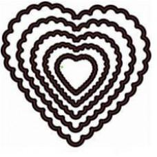 Форма для вырубки Сердечки Фигурные
