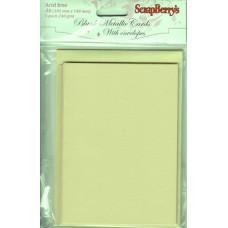 Набор заготовок для открыток с конвертами, А6 5 шт МЕТАЛЛИК ЗОЛОТО