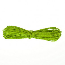 Шнур бумажный крученый, светло-зеленый, 5м