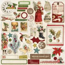 Стикеры из кардстока My Mind's Eye Vintage Christmas