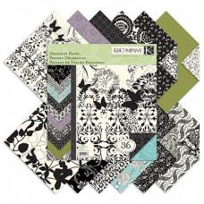 "Набор бумаги ""Designer Paper Pad-Black & Ivory Fusio"", 36 листов"