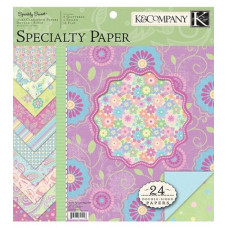 "Набор бумаги ""Double Sided Specialty Paper Pad Sparkly Sweet"", 24 листа"