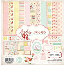 Набор бумаги Baby Mine Girl