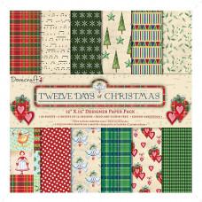 Набор бумаги для скрапбукинга 30*30 12 Days of Christmas