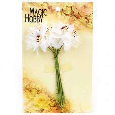 Цветы бумажные MAGIC HOBBY 51 цв.2 белый