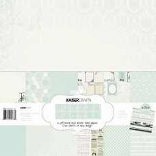 "Набор бумаги от Kaisercraft ""Pitter Patter Boy Paper"" + наклейки"