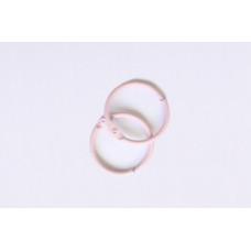 Кольца для альбомов, 2 шт розовые 25 мм