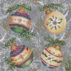 """Салфетки - трехслойные, коллекция """"Рождественский обед"""""""
